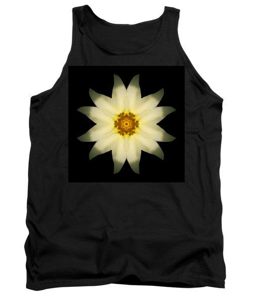 Pale Yellow Daffodil Flower Mandala Tank Top