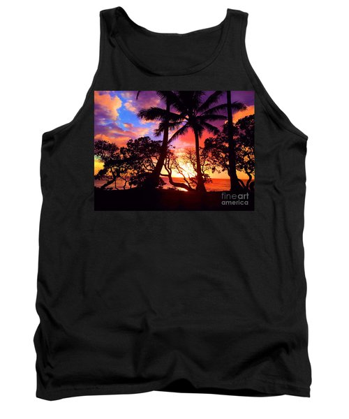 Tank Top featuring the photograph Palm Tree Silhouette by Kristine Merc