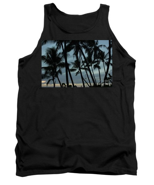 Tank Top featuring the photograph Palms At Dusk by Suzanne Luft