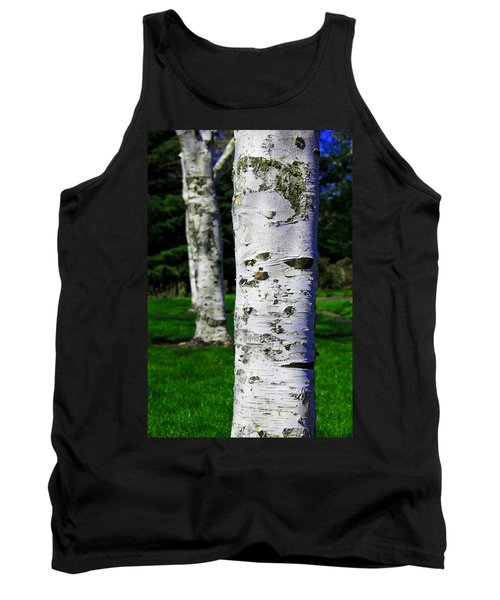 Aaron Lee Berg Tank Top featuring the photograph Paper Birch Trees by Aaron Berg