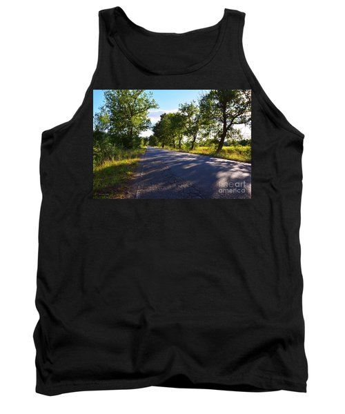 Tank Top featuring the photograph Paradise Road by Ramona Matei