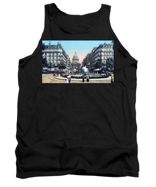 Paris 1910 Rue Soufflot And Pantheon Tank Top by Ira Shander