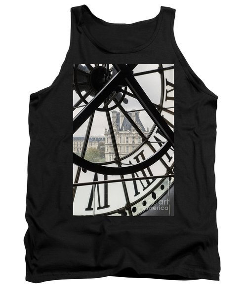 Paris Clock Tank Top by Brian Jannsen