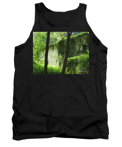 Paris - Green House Tank Top by HEVi FineArt
