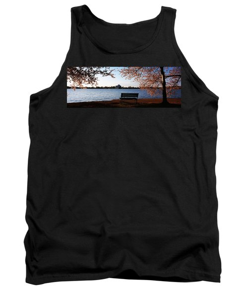 Park Bench With A Memorial Tank Top by Panoramic Images