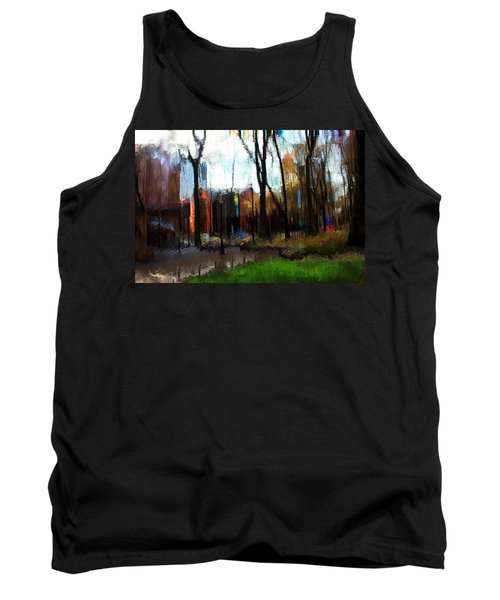 Tank Top featuring the mixed media Park Block I by Terence Morrissey