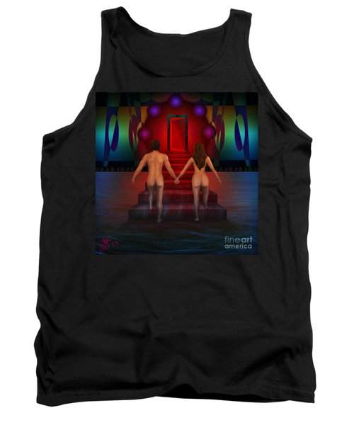 Tank Top featuring the digital art Passion Ascending by Rosa Cobos