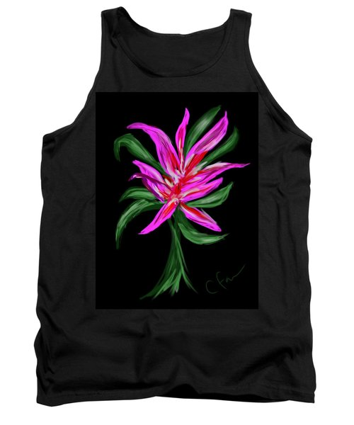 Tank Top featuring the digital art Passion Flower by Christine Fournier