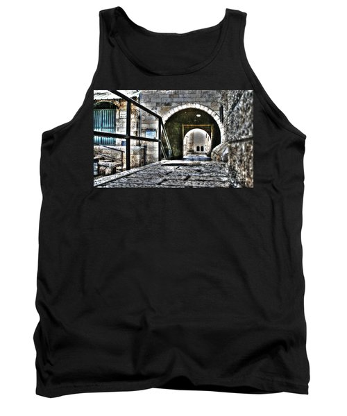 Tank Top featuring the photograph Pathway Through Old Jerusalem by Doc Braham