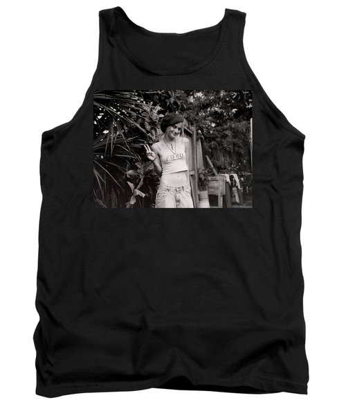Tank Top featuring the photograph Peace Chick by Greg Allore