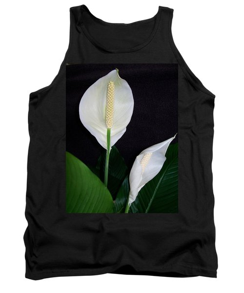 Tank Top featuring the photograph Peace Lilies by Sharon Duguay