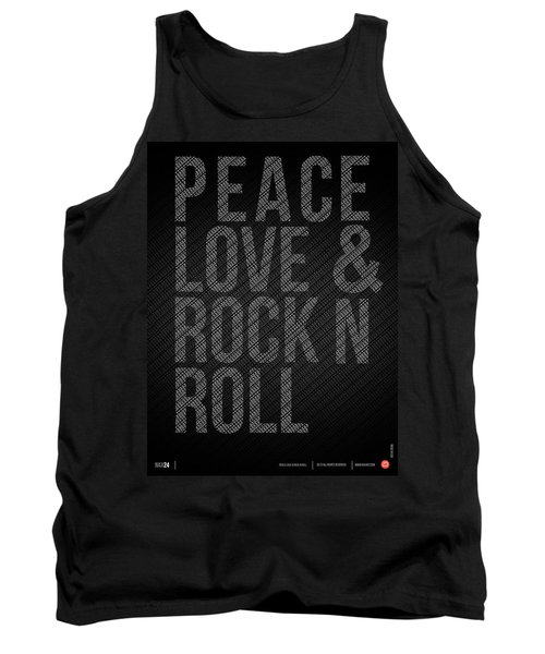 Peace Love And Rock N Roll Poster Tank Top