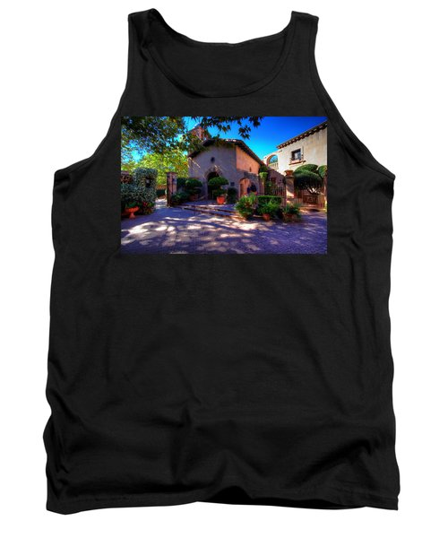 Peaceful Plaza Tank Top by Dave Files