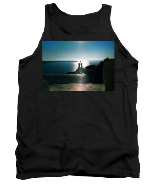 Tank Top featuring the photograph Peaceful Sunset Santorini Island Greece by Colette V Hera  Guggenheim