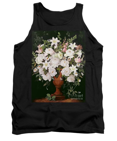 Peonies And Wisteria Tank Top