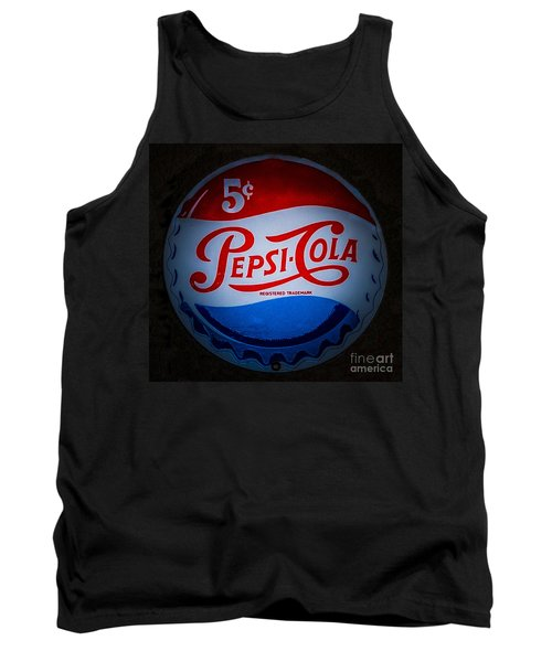 Pepsi Cap Sign Tank Top by Mitch Shindelbower