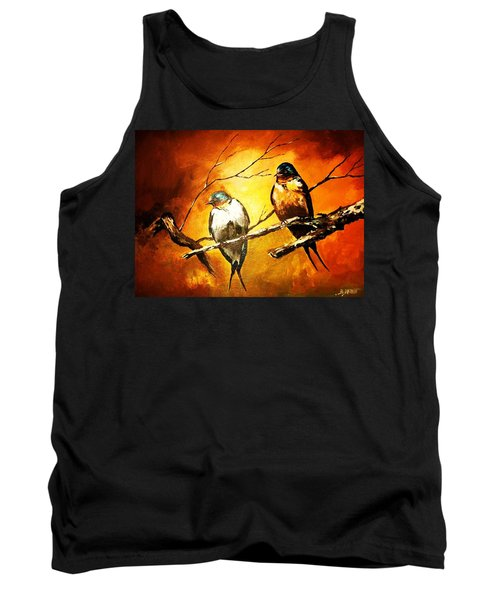Perched Swallows Tank Top