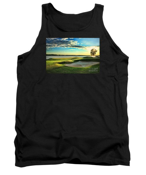 Perfect Golf Sunset Tank Top by Reid Callaway