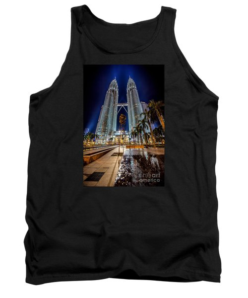Petronas Twin Towers Tank Top by Adrian Evans