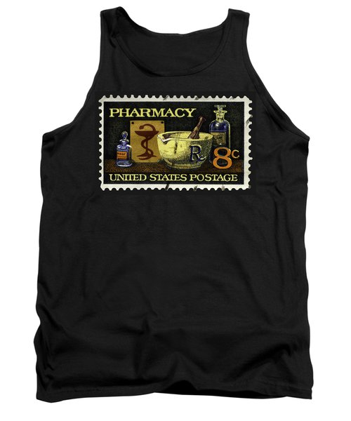 Pharmacy Stamp With Bowl Of Hygeia Tank Top by Phil Cardamone