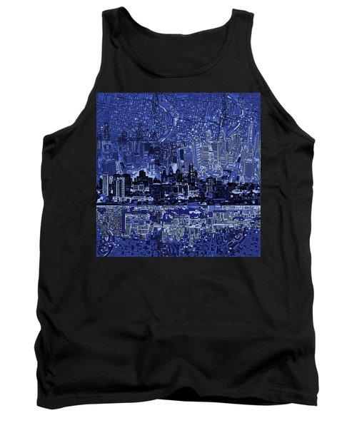Philadelphia Skyline Abstract 2 Tank Top