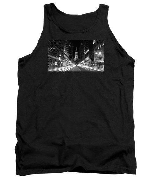 Philadephia City Hall -- Black And White Tank Top