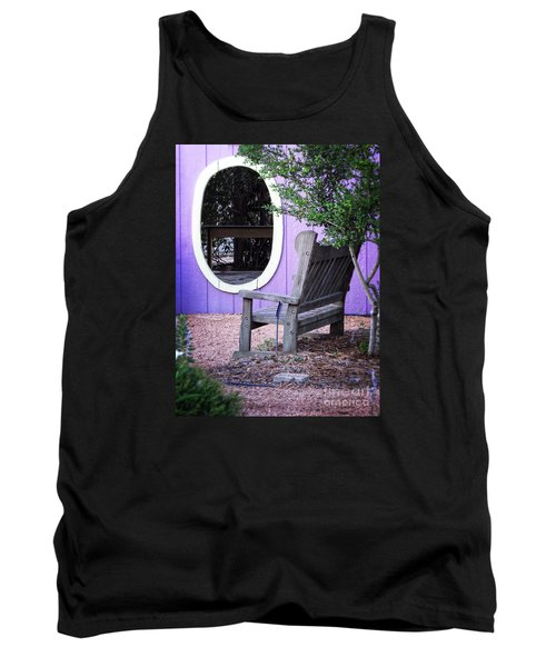 Tank Top featuring the photograph Picture Perfect Garden Bench by Ella Kaye Dickey