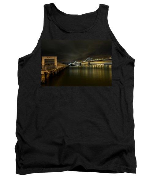Pier 14 And Bay Bridge At Night Tank Top