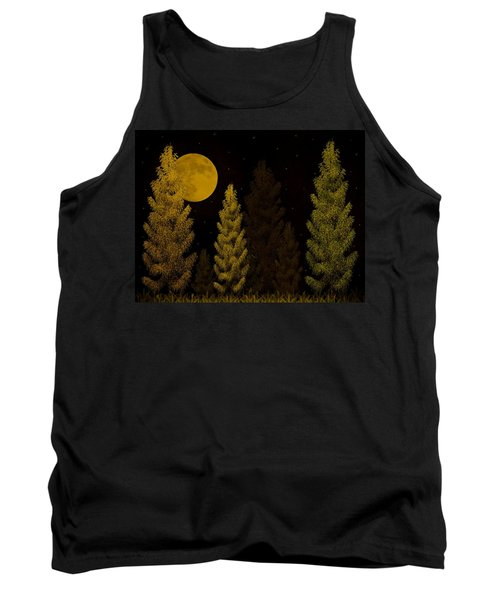 Pine Forest Moon Tank Top