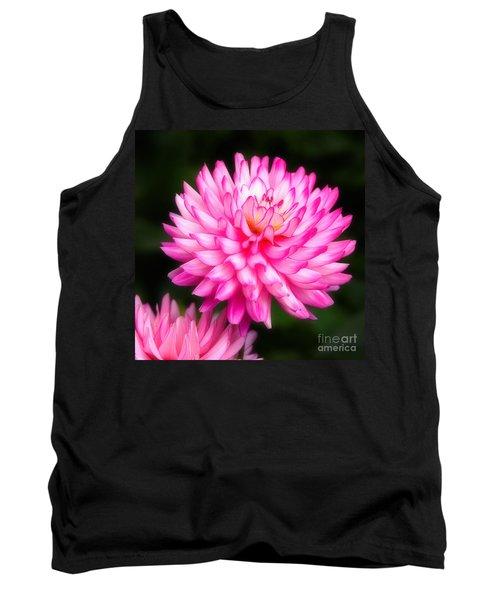Pink Chrysanths Tank Top