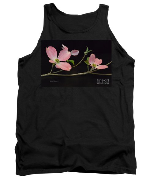 Tank Top featuring the photograph Pink Dogwood Branch  by Jeannie Rhode