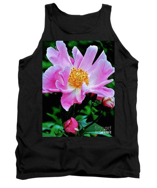 Pink Peony Garden  Tank Top by Carol F Austin