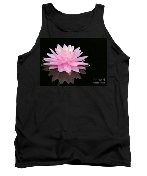 Pink Water Lily In A Dark Pond Tank Top
