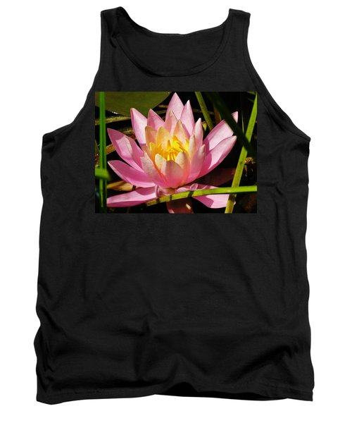 Pink Water Lily Tank Top by Sherman Perry