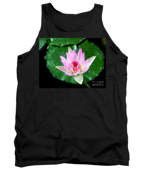 Tank Top featuring the photograph Pink Waterlily Flower by David Lawson