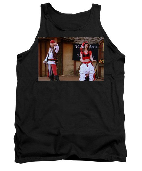 Pirate Shantyman And Bonnie Lass Tank Top