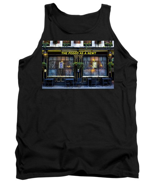 Pissed As A Newt Pub  Tank Top by David Pyatt
