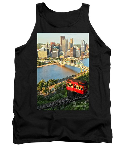Pittsburgh Duquesne Incline Tank Top by Adam Jewell