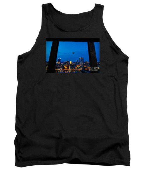 Pittsburgh Skyline At Night Tank Top