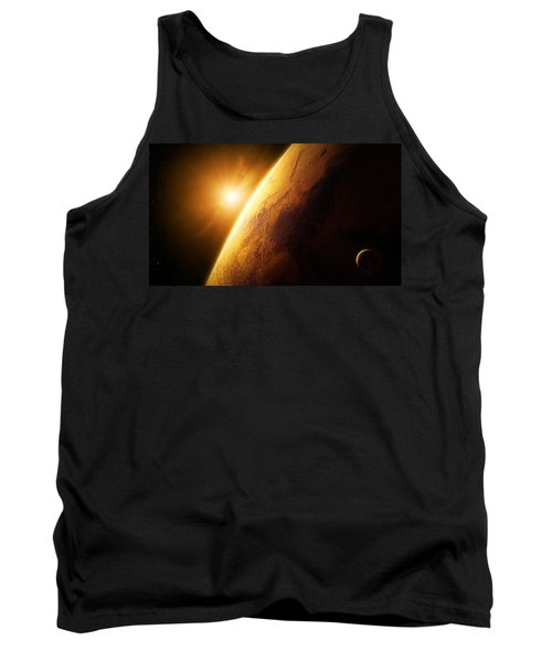 Planet Mars Close-up With Sunrise Tank Top
