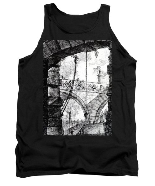 Plate 4 From The Carceri Series Tank Top by Giovanni Battista Piranesi