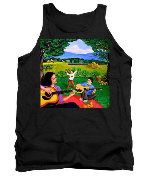 Playing Melodies Under The Shade Of Trees Tank Top