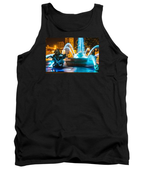 Plaza Blue Fountain Tank Top