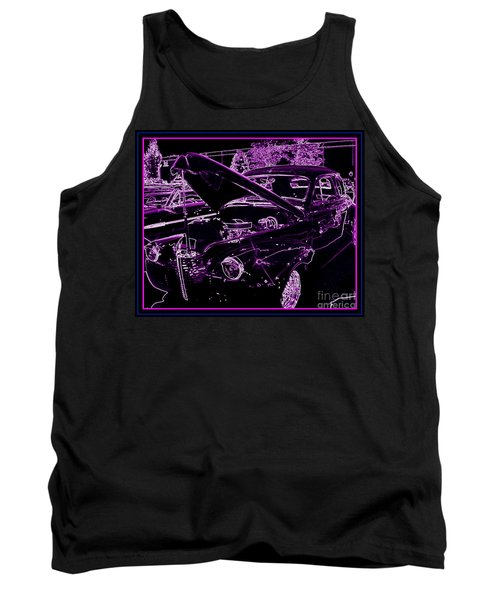 Tank Top featuring the digital art Plum Perfect by Bobbee Rickard