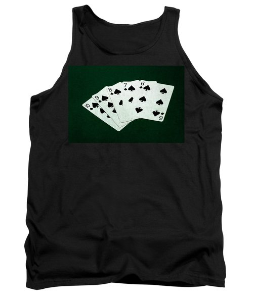 Poker Hands - Straight Flush 1 Tank Top by Alexander Senin