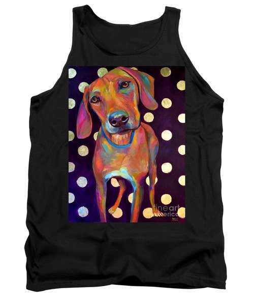 Tank Top featuring the painting Polka Pooch by Robert Phelps