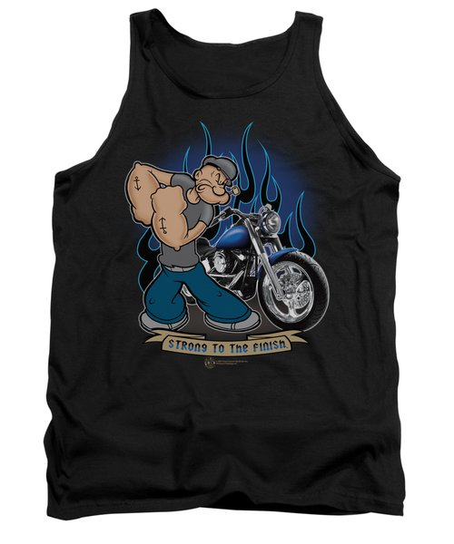 Popeye - Biker Popeye Tank Top