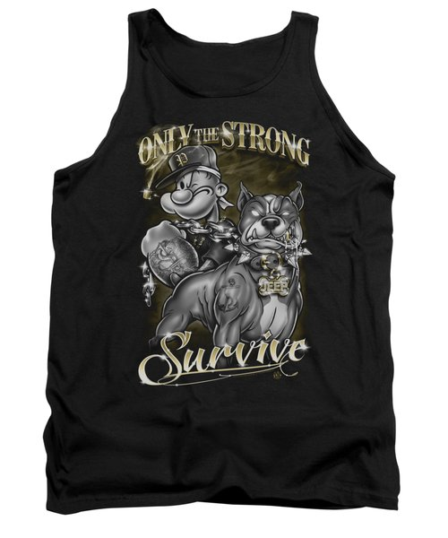 Popeye - Only The Strong Tank Top by Brand A