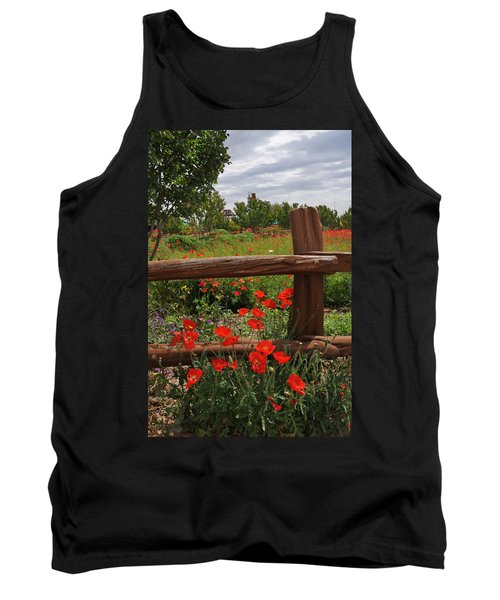 Poppies At The Farm Tank Top