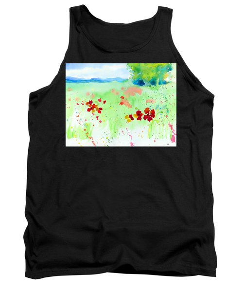 Poppy Passion Tank Top by C Sitton